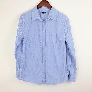 🌈 4 for $20 GAP Tailored Shirt Blue Pinstripe